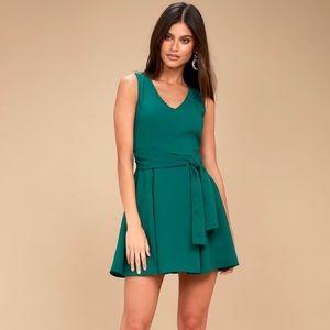 Teal green skater dress